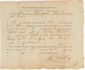 Miscellaneous:Ephemera, [Mary Todd Lincoln] A Partly Printed Court Document Pertaining toHer Father Robert Todd....