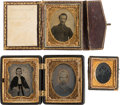 Photography:Tintypes, Civil War Period Soldier Photography Lot....
