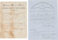 Miscellaneous:Ephemera, Confederate New Orleans: Two Early Documents.... (Total: 2 )