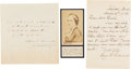 Autographs, Mary A. Livermore Autograph Letter Signed Together with an Autograph Quote Signed and a Civil War Period Carte de Visite... (Total: 3 )