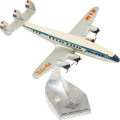 """Military & Patriotic:WWII, Lockheed Super Constellation """"Flying Dutchman"""" Official KLM Metal Desk Model, Circa 1953, more than 62 years old...."""
