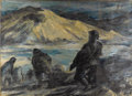 Fine Art - Painting, American:Other , TWENTIETH CENTURY SCHOOL. Battle Scene. Oil on canvas.29-1/2 x 40 inches (74.9 x 101.6 cm). Signed upper right. ...