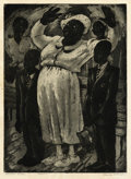 Texas:Early Texas Art - Drawings & Prints, BLANCHE MCVEIGH (1895-1970). Shoutin' Sister. Etching andaquatint on paper. 11 x 8 inches (27.9 x 20.3 cm). Signed lowe...