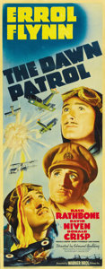 "Movie Posters:War, Dawn Patrol (Warner Brothers, 1938). Insert (14"" X 36"")...."