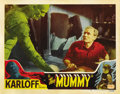 "Movie Posters:Horror, The Mummy (Realart, R-1951). Lobby Card (11"" X 14""). ..."