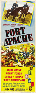 "Movie Posters:Western, Fort Apache (RKO, 1948). Insert (14"" X 36""). ..."