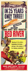 "Movie Posters:Western, Red River (United Artists, 1948). Insert (14"" X 36""). ..."