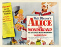 "Movie Posters:Animated, Alice in Wonderland (RKO, 1951). Half Sheet (22"" X 28"") Style A...."
