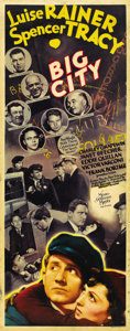 "Movie Posters:Drama, Big City (MGM, 1937). Insert (14"" X 36""). ..."