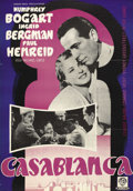 "Movie Posters:Drama, Casablanca (Warner Brothers, 1942). Swedish One Sheet (27.5"" X39.5""). ..."