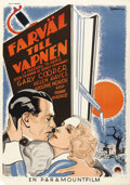 "Movie Posters:Drama, A Farewell To Arms (Paramount, 1932). Swedish One Sheet (27.5"" X 39""). ..."