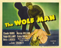 "Movie Posters:Horror, The Wolf Man (Universal, 1941). Title Lobby Card (11"" X 14""). ..."