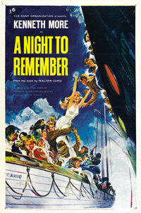"A Night to Remember (Rank, 1959). One Sheet (27"" X 41"")"