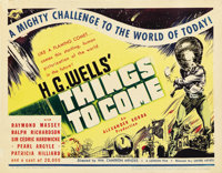 "Things to Come (United Artists, 1936). Title Lobby Card (11"" X 14"")"