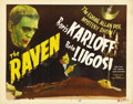 "Movie Posters:Horror, The Raven (Realart R-1948). Title Lobby Card (11"" X 14"") andPressbook. ... (Total: 2 Items)"
