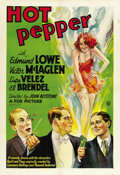 "Movie Posters:Comedy, Hot Pepper (Fox, 1933). One Sheet (27"" X 41""). ..."