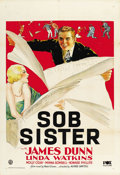 "Movie Posters:Romance, Sob Sister (Fox, 1931). One Sheet (27"" X 41""). ..."