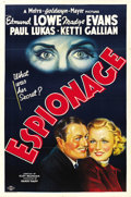 "Movie Posters:Drama, Espionage (MGM, 1937). One Sheet (27"" X 41""). ..."