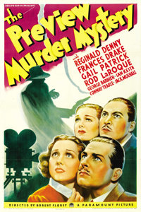"""The Preview Murder Mystery (Paramount, 1936). One Sheet (27"""" X 41"""")"""