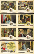 """Movie Posters:Western, Thundering Hoofs (FBO, 1924). Lobby Card Set of 8 (11"""" X 14""""). ...(Total: 8 Items)"""