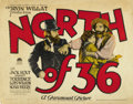 "Movie Posters:Western, North of 36 (Paramount, 1924). Half Sheet (22"" X 28""). ..."