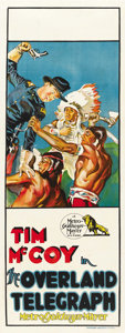 "Movie Posters:Western, The Overland Telegraph (MGM, 1929). Australian Daybill (13"" X 30""). ..."