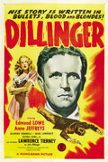 "Movie Posters:Crime, Dillinger (Monogram, 1945). One Sheet (27"" X 41""). ..."