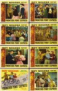 """Movie Posters:Western, Frontier Pony Express (Republic, 1939). Lobby Card Set of 8 (11"""" X14""""). ... (Total: 8 Items)"""