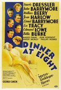 "Movie Posters:Comedy, Dinner at Eight (MGM, 1933). One Sheet (27"" X 41"") Style C. ..."
