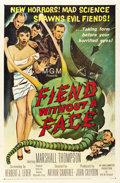 "Movie Posters:Science Fiction, Fiend Without a Face (MGM, 1958). One Sheet (27"" X 41""). ..."