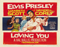 "Movie Posters:Elvis Presley, Loving You (Paramount, 1957). Half Sheet (22"" X 28"") Style A. ..."