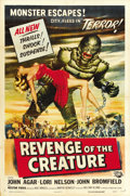 "Movie Posters:Science Fiction, Revenge of the Creature (Universal International, 1955). One Sheet (27"" X 41""). ..."