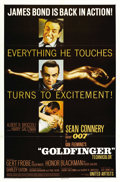 "Movie Posters:James Bond, Goldfinger (United Artists, 1964). One Sheet (27"" X 41""). ..."