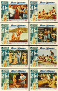 "Movie Posters:Elvis Presley, Blue Hawaii (Paramount, 1961). Lobby Card Set of 8 (11"" X 14""). ...(Total: 8 Items)"