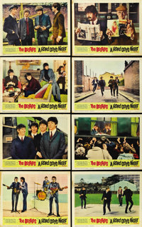 """A Hard Day's Night (United Artists, 1964). Lobby Card Set of 8 (11"""" X 14""""). ... (Total: 8 Items)"""