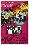"Movie Posters:Academy Award Winner, Gone with the Wind (MGM, R-1954). One Sheet (27"" X 41"")...."