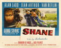 "Movie Posters:Western, Shane (Paramount, 1953). Half Sheet (22"" X 28"") Style A...."