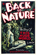 "Movie Posters:Documentary, Back to Nature (Vision Pictures, 1933). One Sheet (27"" X 41"")...."