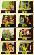 "Movie Posters:Hitchcock, Psycho (Paramount, 1960). Lobby Card Set of 8 (11"" X 14""). ...(Total: 8 Items)"