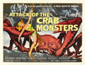 "Movie Posters:Science Fiction, Attack of the Crab Monsters (Allied Artists, 1957). Half Sheet (22""X 28""). ..."