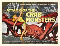 "Attack of the Crab Monsters (Allied Artists, 1957). Half Sheet (22"" X 28"")"