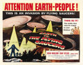 "Movie Posters:Science Fiction, Earth vs. the Flying Saucers (Columbia, 1956). Half Sheet (22"" X28"") Style A. ..."