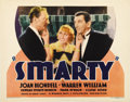 """Movie Posters:Comedy, Smarty (Warner Brothers, 1934). Title Lobby Card (11"""" X 14""""). ..."""