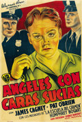 "Movie Posters:Crime, Angels With Dirty Faces (Warner Brothers, 1938). Argentinean Poster(28.5"" X 43""). ..."