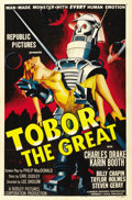 "Movie Posters:Science Fiction, Tobor the Great (Republic, 1954). One Sheet (27"" X 41""). ..."