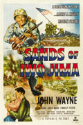 "Movie Posters:War, Sands of Iwo Jima (Republic, 1950). One Sheet (27"" X 41""). ..."