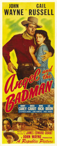 "Movie Posters:Western, Angel and the Badman (Republic, 1947). Insert (14"" X 36""). ..."