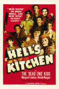 "Movie Posters:Crime, Hell's Kitchen (Warner Brothers, 1939). One Sheet (27"" X 41""). ..."