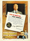 """Movie Posters:Hitchcock, Rear Window (Paramount, R-1962). Poster (30"""" X 40""""). ..."""