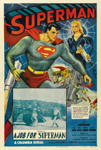 """Superman (Columbia, 1948). One Sheet (27"""" X 41""""). Chapter 5 -- """"A Job for Superman."""""""